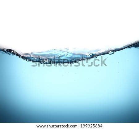 Water wave with air bubbles