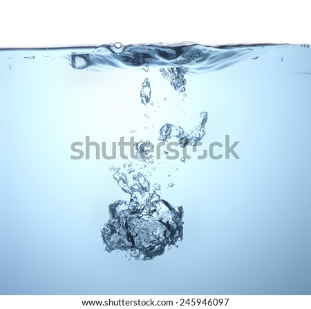 Water wave with bubble