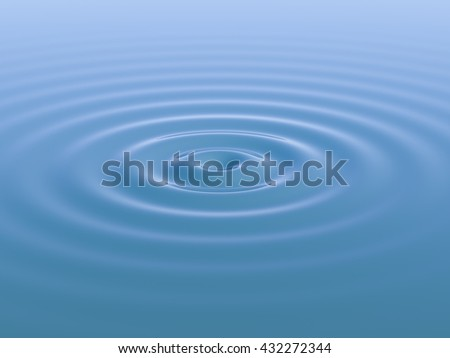 Water waves and ripples. 3D rendering. - stock photo