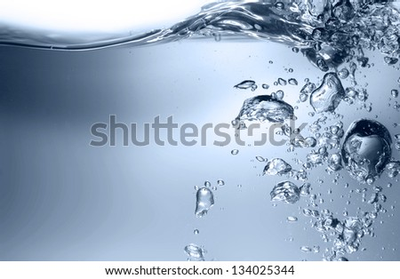 Water with air bubbles - stock photo