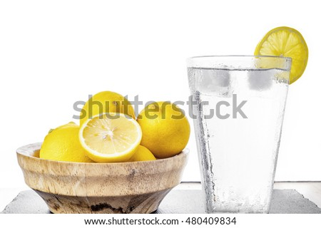 Water with lemon (Vintage faded filter)