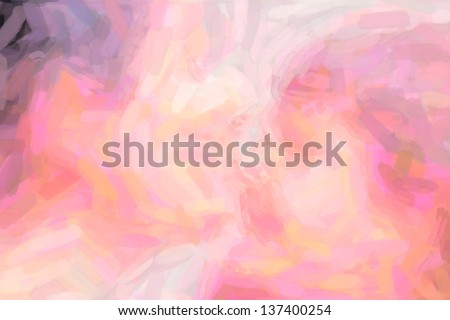 Watercolor abstract hand painted background red pink