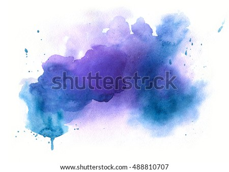 Watercolor abstract isolated stain for banner or other design