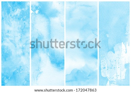 Watercolor Abstract Painting Background