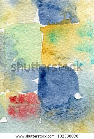 watercolor abstract painting suitable for use as a textured background - stock photo