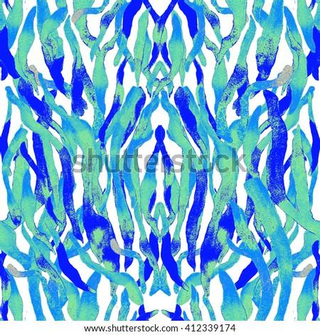 Watercolor abstract zebra print pattern. Zebra skin pattern.  - stock photo