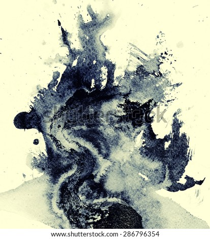 watercolor and ink backgrounds for design - stock digital artwork - stock photo