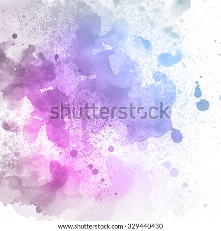 Watercolor Background. Abstract art painting texture. Colorful water drops. - stock photo