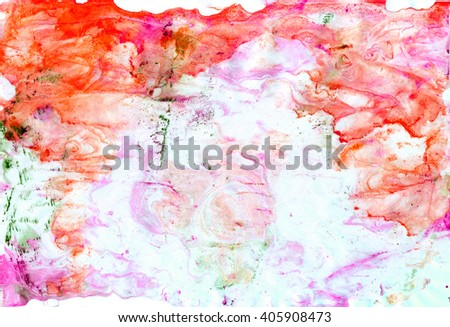 Watercolor background. Abstract emotional art. Modern design element. Watercolor frame.