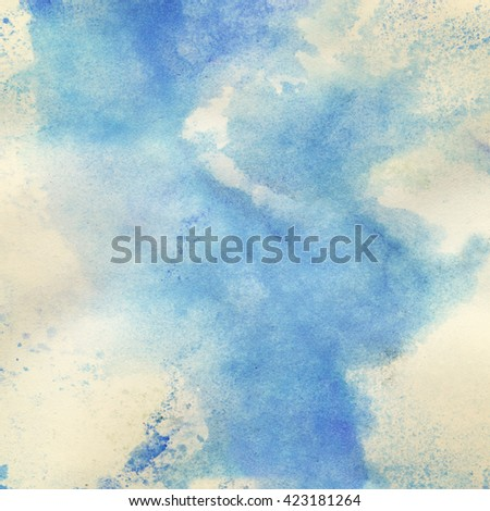 watercolor background, abstract texture - stock photo