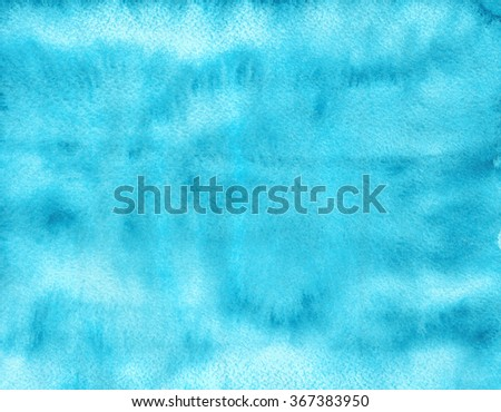 Watercolor background. Abstract texture. Blue sky - stock photo