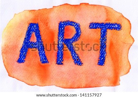 watercolor background art logo on paper