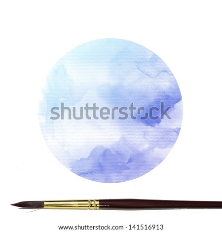 Watercolor background. colorful Abstract water color art hand paint with artist brush
