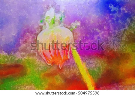 watercolor background flower dahlia. beautiful flowers blossomed in the garden