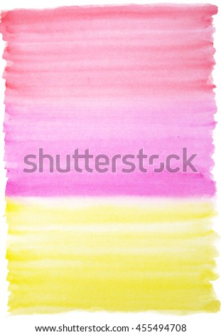 Watercolor background in red, magenta and yellow colors - stock photo