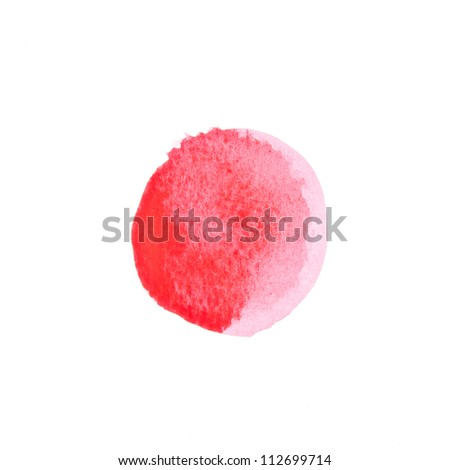 watercolor background red circle - stock photo