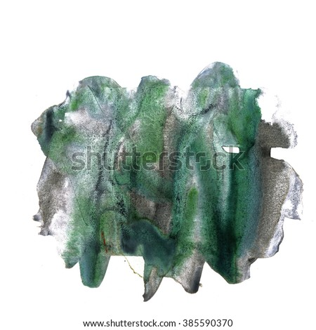watercolor  black green strokes brush paint stroke texture color with space for your own text