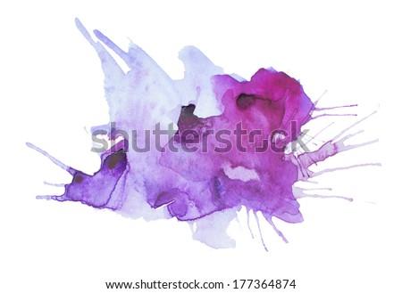 watercolor blots - stock photo