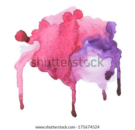 Watercolor blots background - stock photo