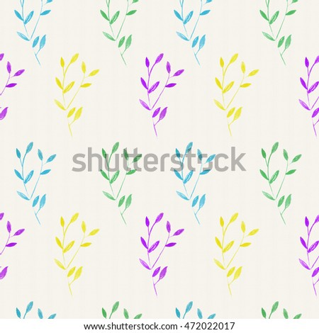 watercolor botanical pattern background