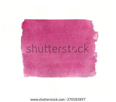 Watercolor bright squared pink background texture isolated on white