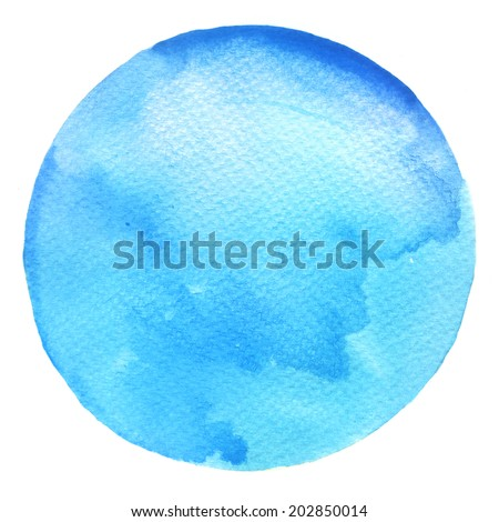 Watercolor circles collection. Watercolor stains set isolated on white background. Watercolour palette. - stock photo