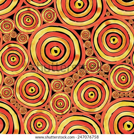 Watercolor circles seamless pattern