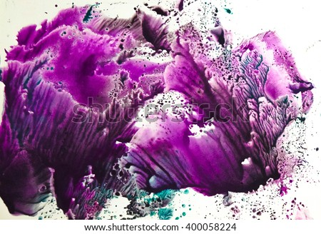 Watercolor colorful splash isolated on white background - stock photo