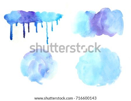 Watercolor Drips Paint Painting Templates Designer Stock ...