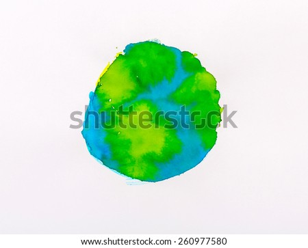 Watercolor Earth - stock photo