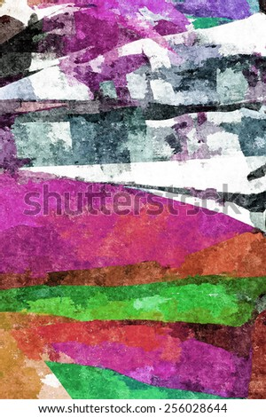 watercolor effect pattern with fabric colorful as background.