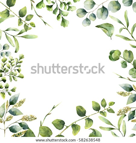 Greenery stock images royalty free images vectors for Watercolor greenery