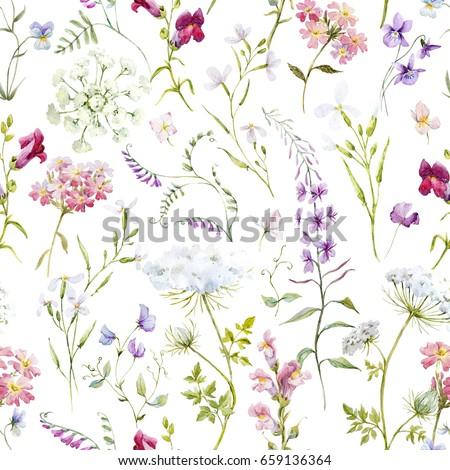 Watercolor floral pattern delicate flower wallpaper stock watercolor floral pattern delicate flower wallpaper stock illustration 659136364 shutterstock mightylinksfo