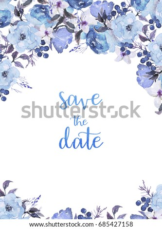 blue flower design border wwwpixsharkcom images