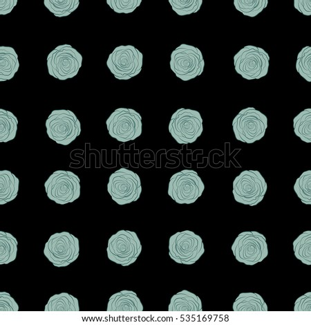 Neutral Blue Floral Seamless Pattern Stock Vector