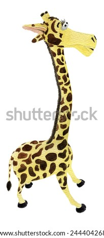 watercolor giraffe baby toy