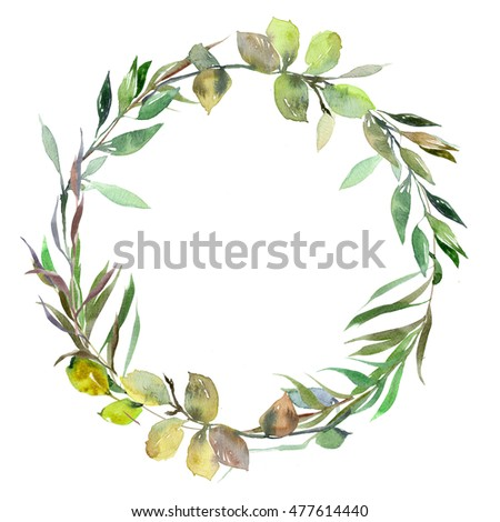 Watercolor Wreath Stock Images, Royalty-Free Images ...