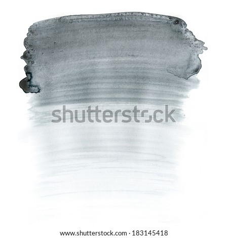 Watercolor grey background. Abstract aquarelle texture grayscale backdrop. Handmade technique.  - stock photo