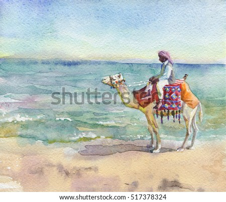 Arab Watercolor Hands Culture In Holding