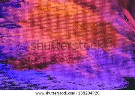 Watercolor  hand painted art background - stock photo