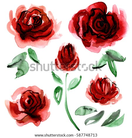 Painted Flowers Stock Images, Royalty-Free Images ...