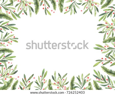 Ready To Use Vertical Xmas Frame Perfect For Invitations Greeting Cards