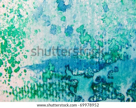 Watercolor in Blue 4 - stock photo