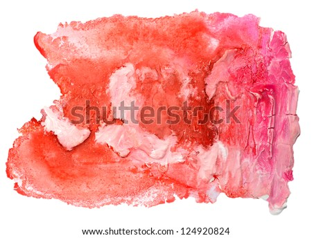 watercolor isolated red pink on white for your design