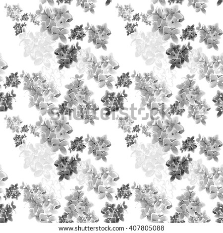 Watercolor lilac flower seamless pattern