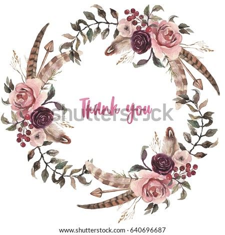 Watercolor Wreath Stock Images Royalty Free Images Amp Vectors