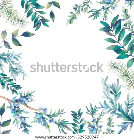 Watercolor Wreath Frame Stock Images, Royalty-Free Images ...