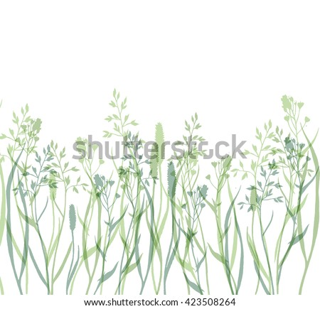 Watercolor nature background with realistic wild herbs, flowers and leaves. Hand drawn botanical illustration in vintage style for print, card, banner and other herbal design.