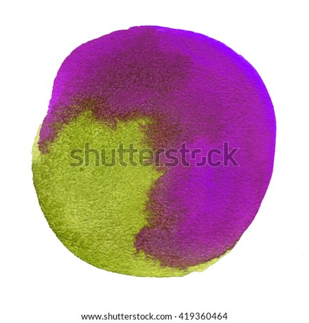 watercolor oil round circle