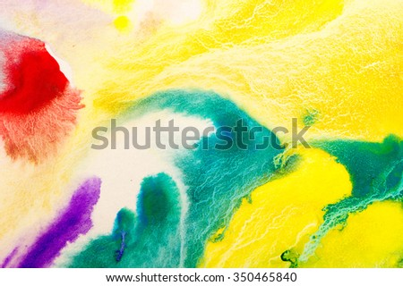 Watercolor on paper background - stock photo